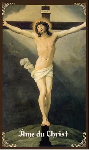 prayer card- Anima Christi - Ame du Christ ( French )