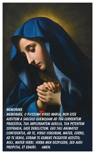 PRAYER CARD -OUR LADY OF SORROWS 2