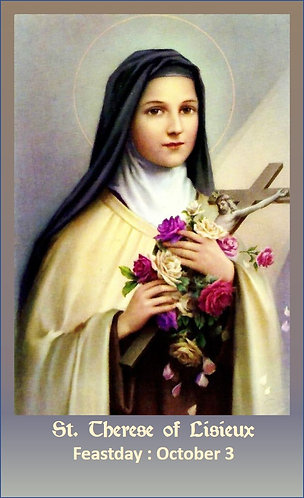 PRAYER CARD- St Therese of Lisieux