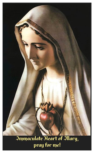 PRAYER CARD - IMMACULATE HEART 2