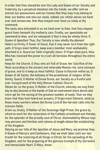 Mega Cards/BookMarks- Consecration to IHM  by SSPX