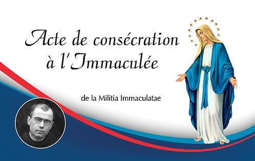 Carte-prière : Acte de consécration à l'Immaculée