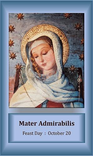 PRAYER CARD -Mater Admirabilis