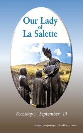 PRAYER CARD- Our Lady of La Salette
