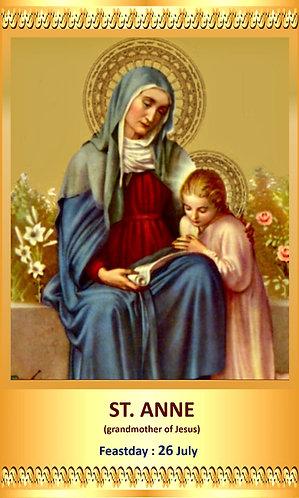 PRAYER CARD- St. Anne