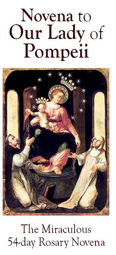 Flyer-Novena to Our Lady of Pompeii