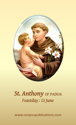 PRAYER CARD- St. Anthony