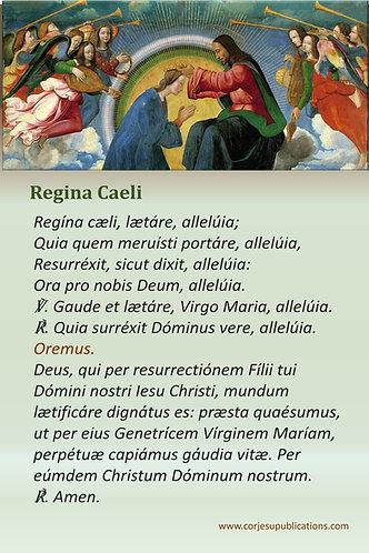 Mega Cards/BookMarks- REGINA CAELI in Latin & Engish