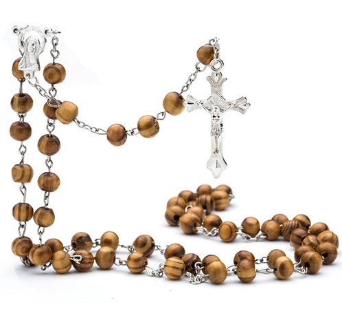 Rosary of wooden beads
