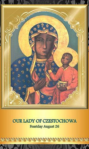Prayer Card- Our Lady of Czestochowa