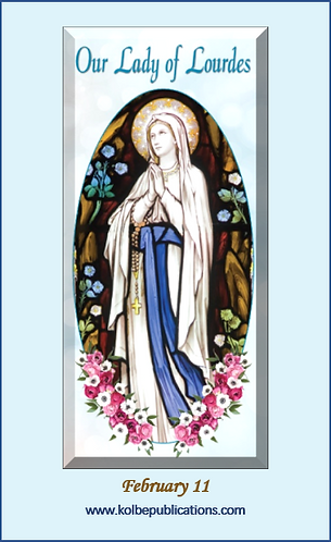 PRAYER CARD -Our Lady of Lourdes 1