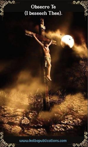 PRAYER CARD -OBSECRO TE