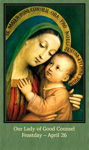 PRAYER CARD- Our Lady of Good Counsel