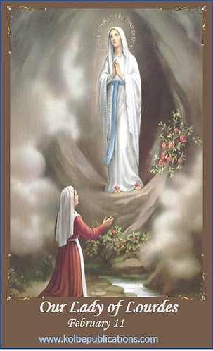 PRAYER CARD -Our Lady of Lourdes