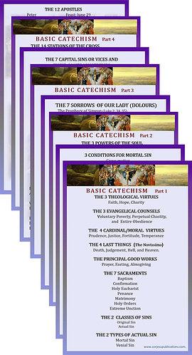 SET OF 4 Mega Cards/BookMarks-BASIC CATECHISM
