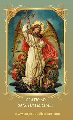 PRAYER CARD- St Michael - in Latin revised