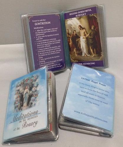Prayer Card -Rosary card set