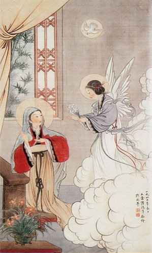 PRAYER CARD - HAIL MARY IN CHINESE