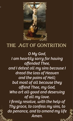 Prayer Card - Act of Contrition