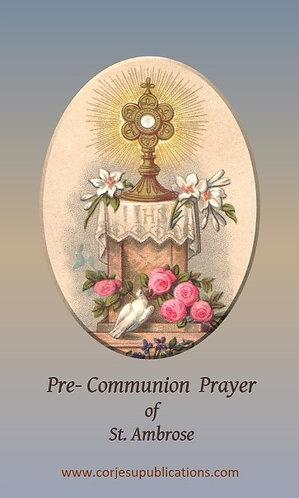 Prayer Card - St Ambrose Communion Prayer