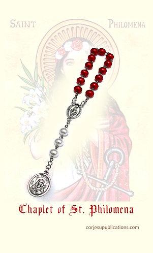 PRAYER CARD  -Chaplet of  St Philomena
