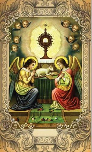 Carte de prière -  Prière de l'Ange de Fatima 1