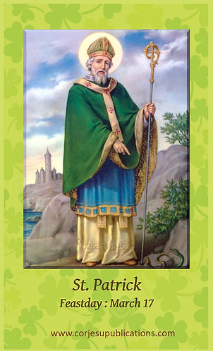 PRAYER CARD- St.Patrick's Shield