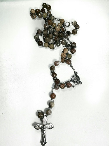 ROSARY- Petrified Wood