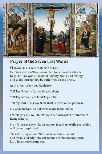 Mega Cards/BookMarks-Prayer of the Seven Last Words