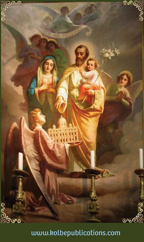 Prayer Card- St.Joseph -Postcommunion,,purity chastity