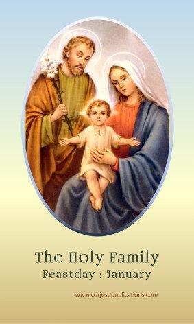 PRAYER CARD -Holy Family