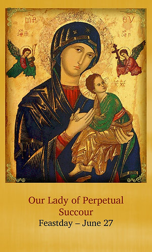 PRAYER CARD - Our Lady of Perpetual Succour
