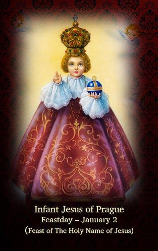 PRAYER CARD- Infant Jesus