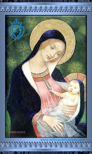MI Prayer Card in Polish - O Mary conceived without sin