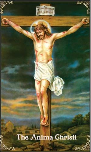 prayer card- Anima Christi version 2( English )