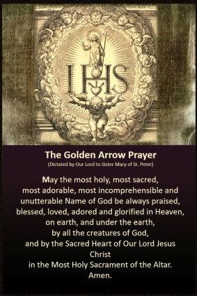 Mega Cards/BookMarks-  Golden Arrow/ Act of Spiritual Communion