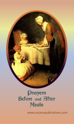 PRAYER CARD -Prayers before and after Meals