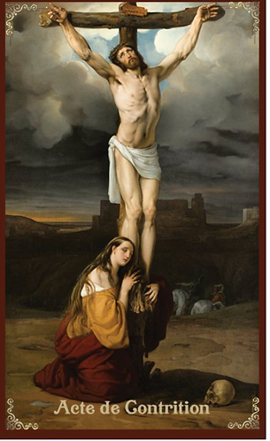 Prayer Card- French- Act of Contrition/Acte de contrition