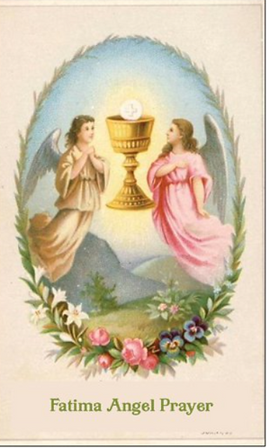 Children Prayer  Card- Fatima Angel Prayer