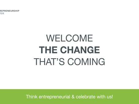 Welcome the change that's coming!