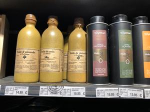 オリーブオイルのボトルも可愛い