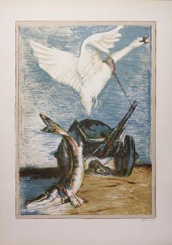 Антонова ,,Лебедь, рак и щука,, 46х63