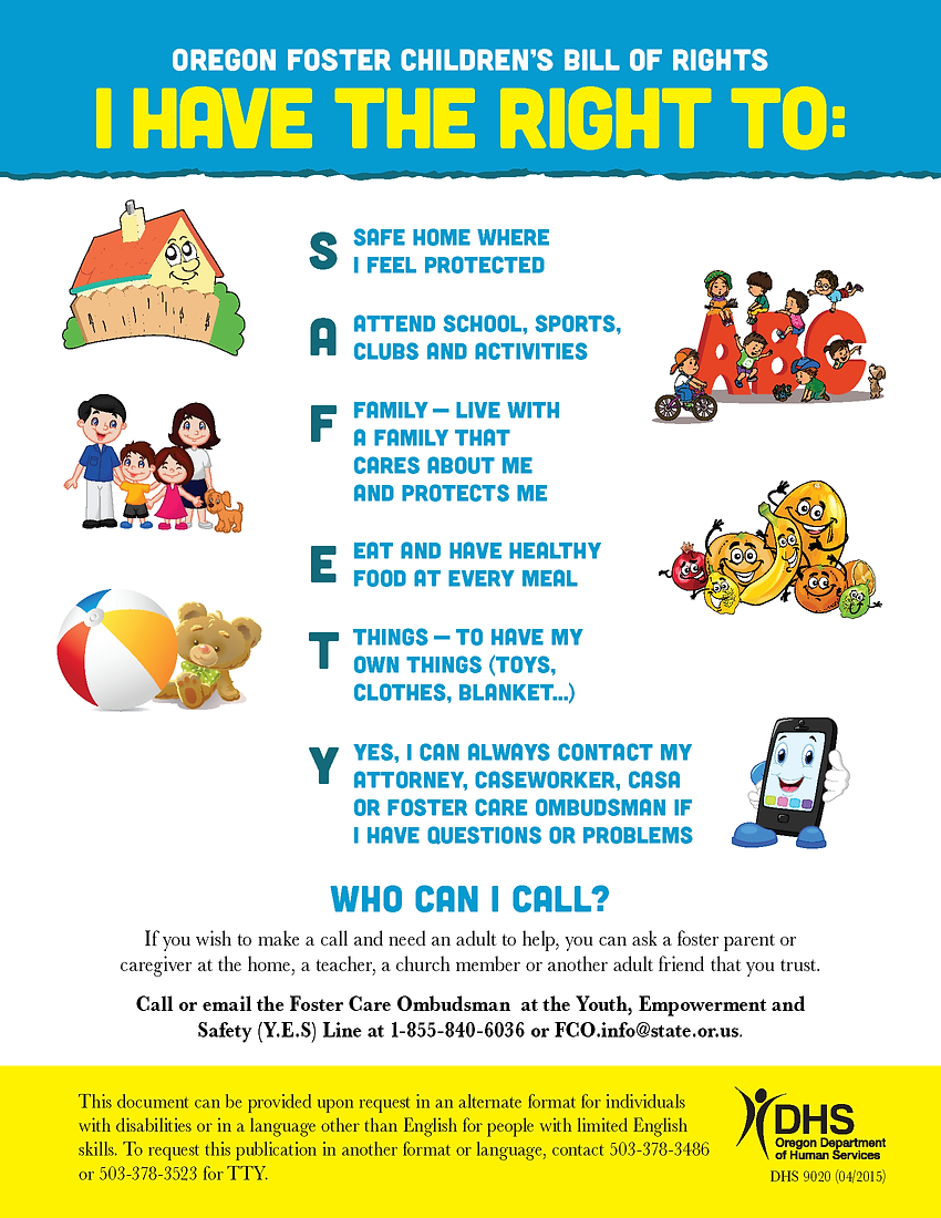 Foster Childrens Bill of Rights - Young