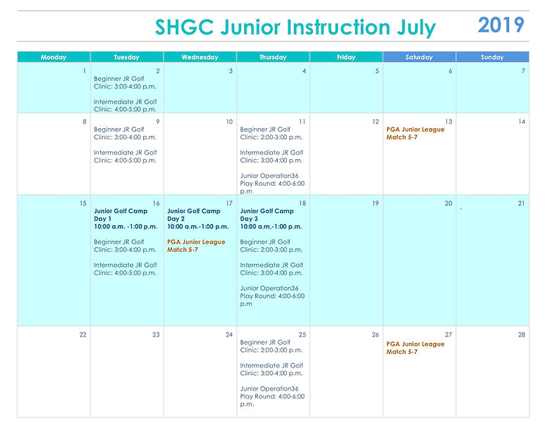 final 2 SHGC Junior Instruction July 201
