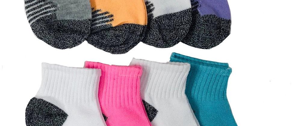 K-Swiss 8pk Quarter Socks