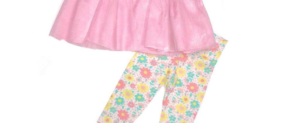 Infant -Princess Rose 2-pc Tutu Legging Set