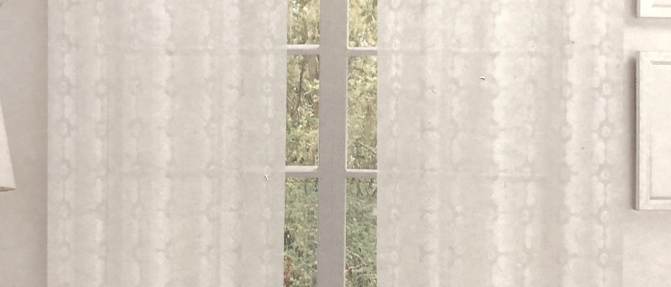 """Mother of Pearl - Single Sheer Lace 84"""" Panel"""