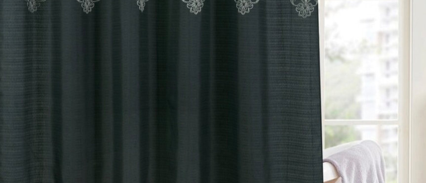 Marita - 13 pc Embroidered Shower Curtain