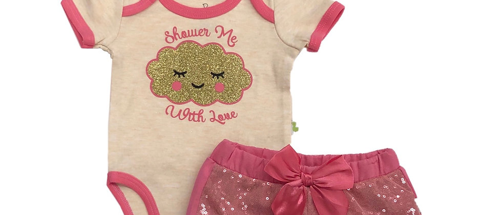 Infants - Duck Duck Goose 3 pc Sequin Short Set