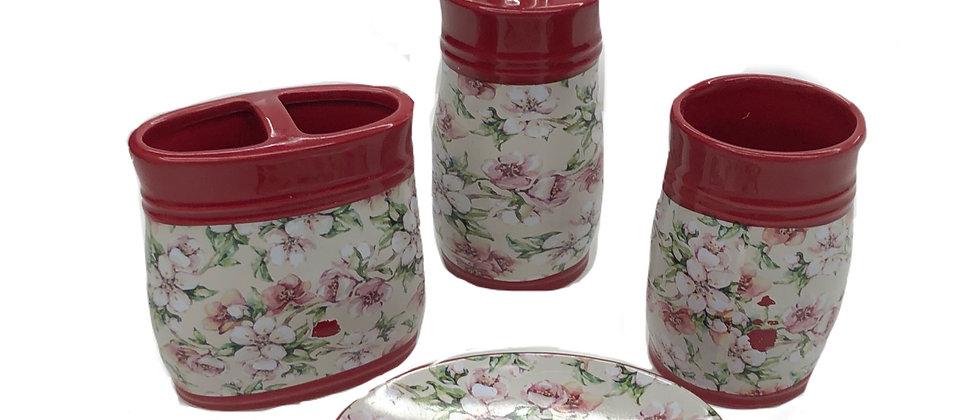 4-Piece Cherry Blossom Bath Set